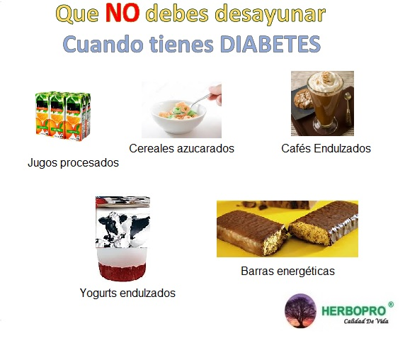 No desayunos para diabetes